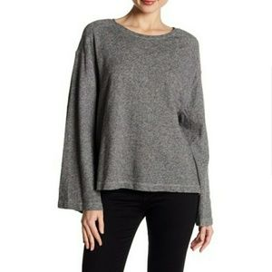 Two By Vince Camuto Bell Sleeve French Terry Knit